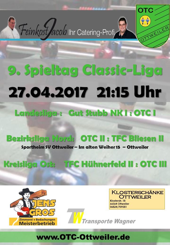 9. Spieltag Classicliga