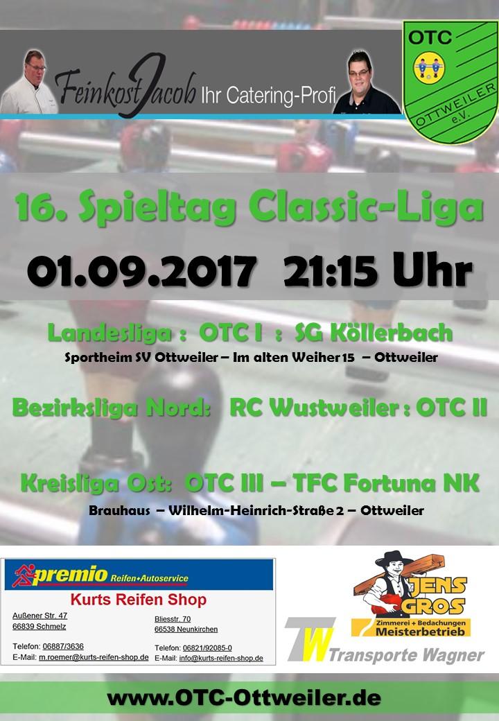 16. Spieltag Classicliga