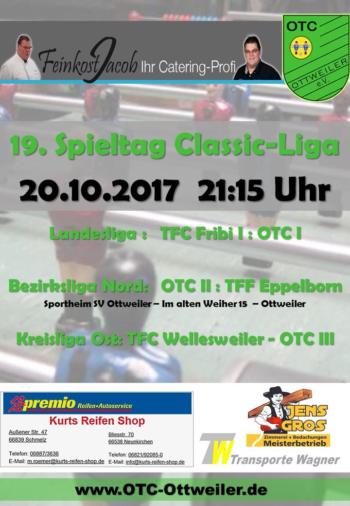 19. Spieltag Classicliga